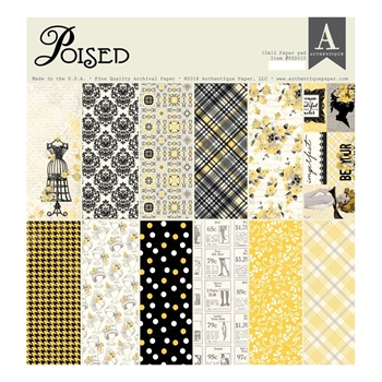 Authentique POISED 12 x 12 Paper Pad psd010