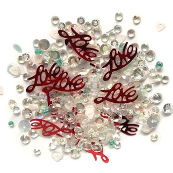 Buttons Galore and More Sparkletz LOVE AFFAIR Embellishments SPK139