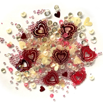 Buttons Galore and More Sparkletz VALENTINE'S DAY Embellishments SPK142