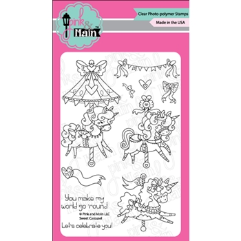 Pink and Main SWEET CAROUSEL Clear Stamps PM0320*