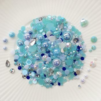 Little Things From Lucy's Cards Crystal Collection OCEAN BREEZE Sparkly Shaker Mix LB203