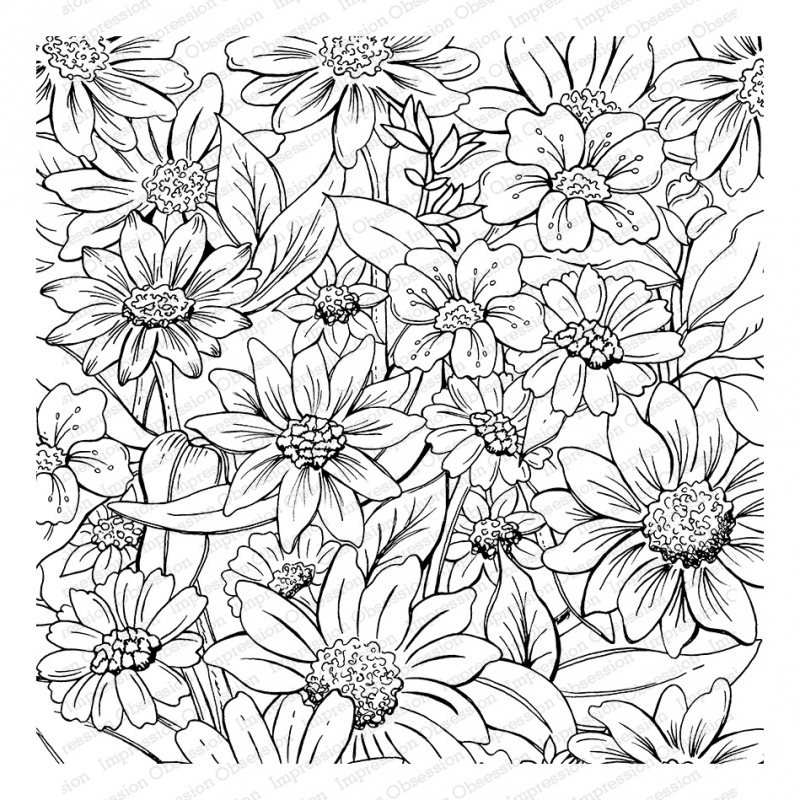 Impression Obsession Cling Stamp FLOWER GARDEN Create A Card CC350 zoom image