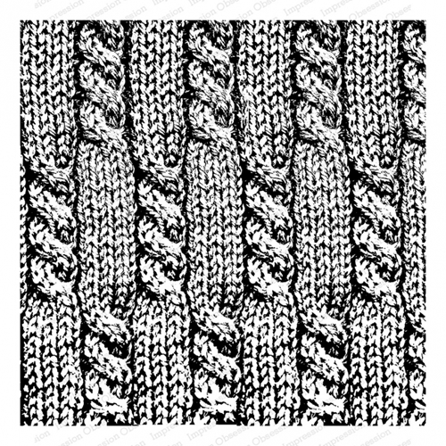 Impression Obsession Cling Stamp CABLE KNIT Cover A Card CC341 Preview Image