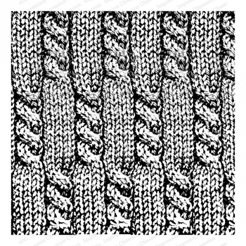 Impression Obsession Cling Stamp CABLE KNIT Cover A Card CC341