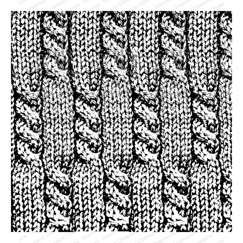 Impression Obsession Cling Stamp CABLE KNIT Cover A Card CC341 zoom image