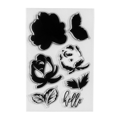 STP-001 Spellbinders LAYERED ROSE Clear Stamps Preview Image