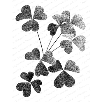 Impression Obsession Cling Stamp SHADED CLOVER L16431