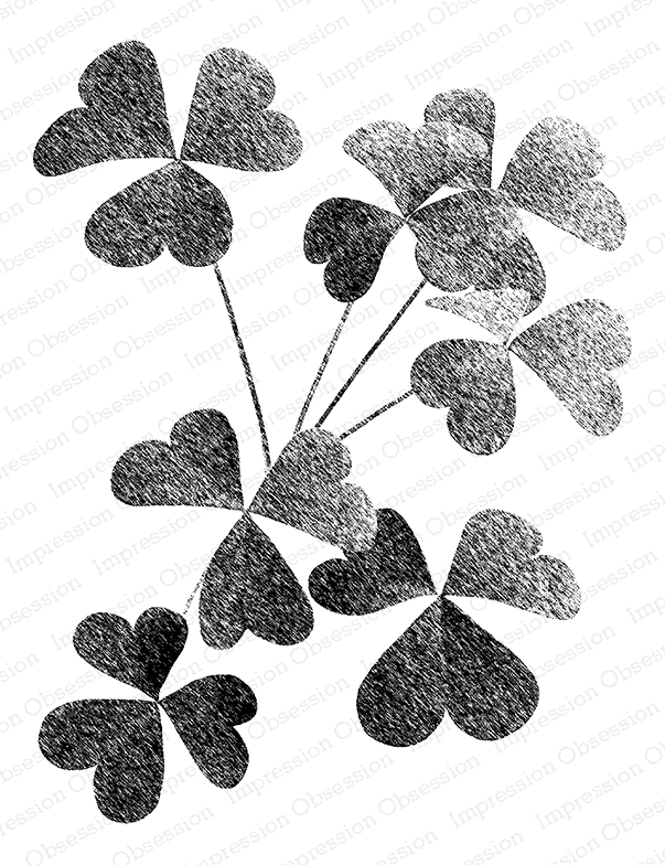 Impression Obsession Cling Stamp SHADED CLOVER L16431 zoom image