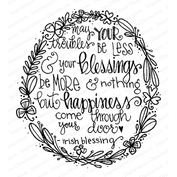 Impression Obsession Cling Stamp FLORAL BLESSING F19961