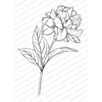 Impression Obsession Cling Stamp PEONY L16428*