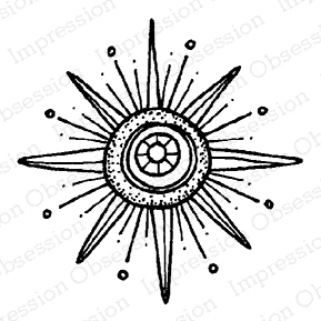 Impression Obsession Cling Stamp SHINY SUN C19980