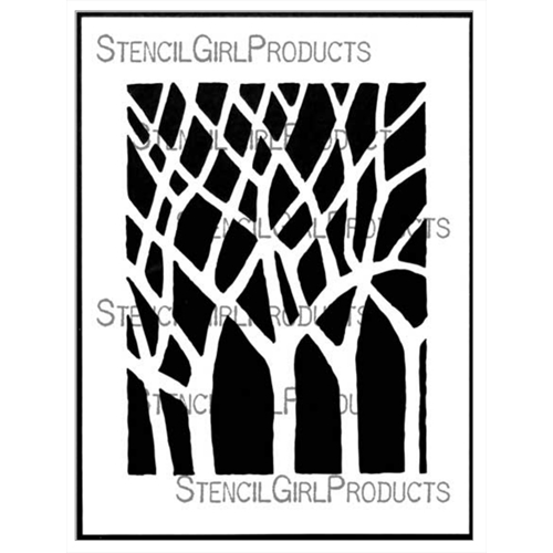 StencilGirl BARE TREES 9x12 Stencil l704 Preview Image