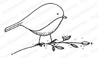 Impression Obsession Cling Stamp BLUEBIRD D19962 Preview Image