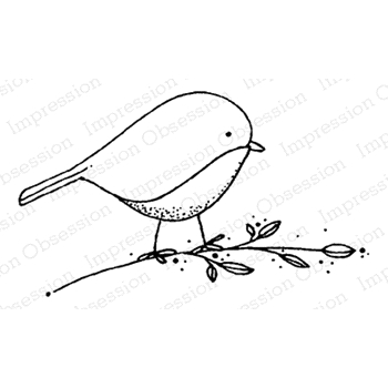 Impression Obsession Cling Stamp BLUEBIRD D19962