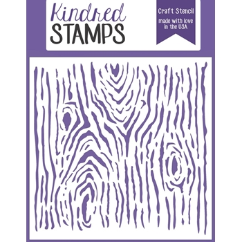 Kindred Stamps WOODGRAIN Stencil 30451484