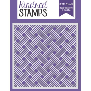 Kindred Stamps BASKET WEAVE Stencil 4492828