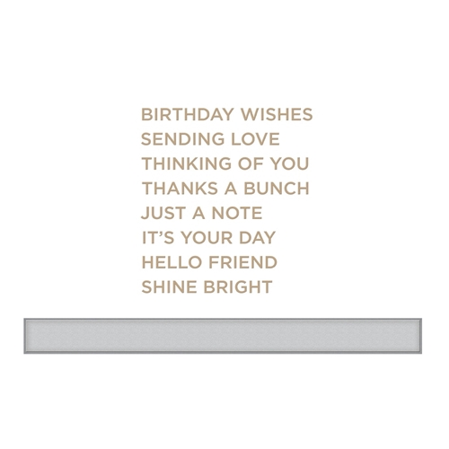 GLP-094 Spellbinders EVERYDAY SENTIMENTS II Glimmer Hot Foil Plate Preview Image