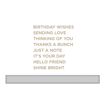 GLP-094 Spellbinders EVERYDAY SENTIMENTS II Glimmer Hot Foil Plate