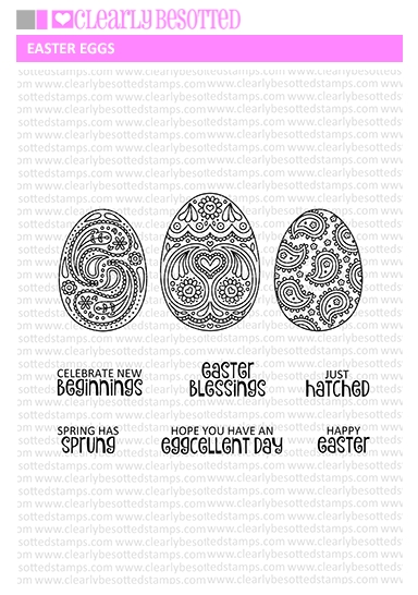 Clearly Besotted EASTER EGGS Clear Stamps  zoom image