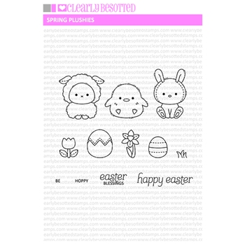 Clearly Besotted SPRING PLUSHIES Clear Stamps*