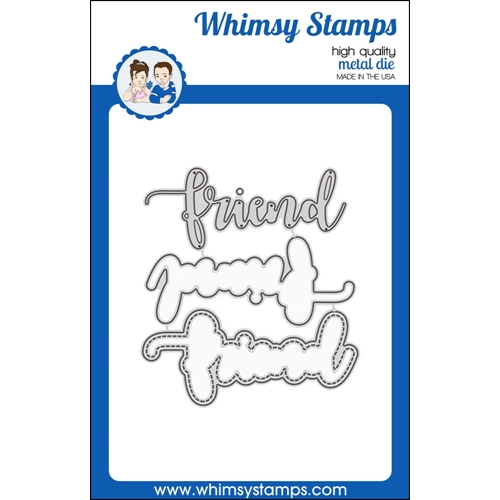 Whimsy Stamps FRIEND WORD WITH SHADOW Dies WSD366 Preview Image
