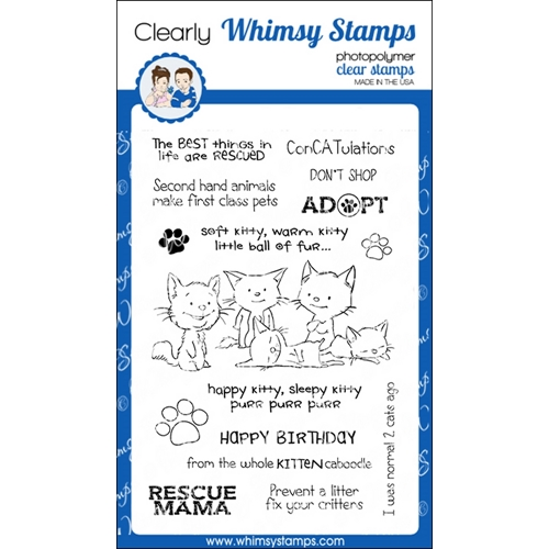 Whimsy Stamps ADOPT DON'T SHOP CATS Clear Stamps CWSD223 Preview Image