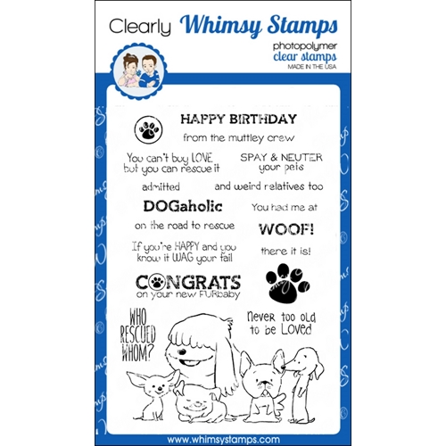Whimsy Stamps ADOPT DON'T SHOP DOGS Clear Stamps C1224 Preview Image