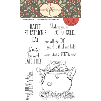 Colorado Craft Company Lovely Legs ST.PATRICK'S DAY Clear Stamps LL228