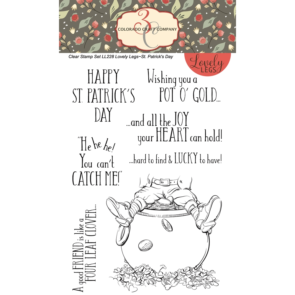 Colorado Craft Company Lovely Legs ST.PATRICK'S DAY Clear Stamps LL228 zoom image