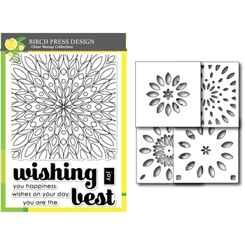 Birch Press Design WISHING MANDALA Stamp and Stencil Set 54002