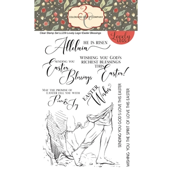 Colorado Craft Company Lovely Legs EASTER BLESSINGS Clear Stamps LL229*