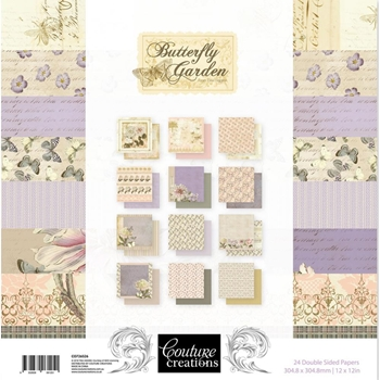 Couture Creations BUTTERFLY GARDEN 12 x 12 Paper Pad co726526