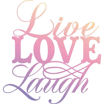 Couture Creations MINI LIVE, LAUGH, LOVE Clear Stamp Butterfly Garden co726555