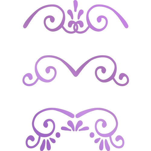 Couture Creations MINI BORDERS Hotfoil Stamp Butterfly Garden co726563 Preview Image