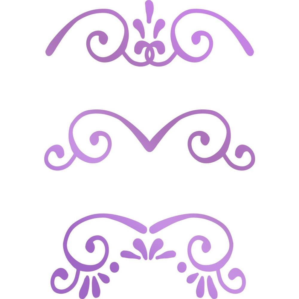Couture Creations MINI BORDERS Hotfoil Stamp Butterfly Garden co726563 zoom image
