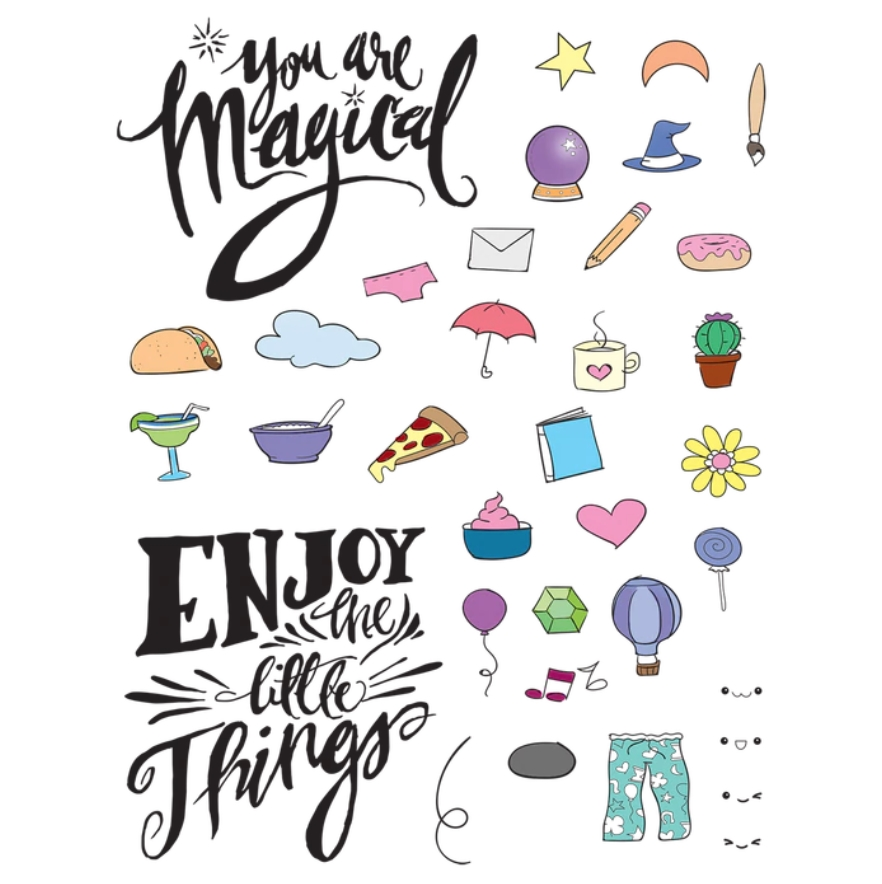 Maker's Movement MAGICAL LITTLE THINGS Clear Stamp Set mos213 zoom image