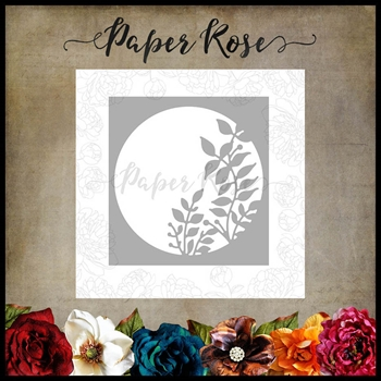 Paper Rose LEAFY CIRCLE Craft Die 17922
