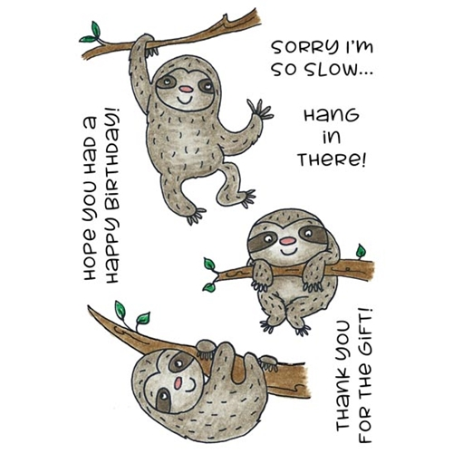 Inky Antics SILLY SLOTHS Clear Stamp Set 11442mc Preview Image