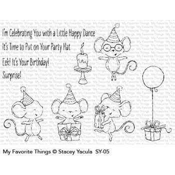 My Favorite Things IT'S A MICE TIME TO CELEBRATE Clear Stamps SY05*