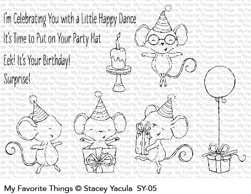 My Favorite Things IT'S A MICE TIME TO CELEBRATE Clear Stamps SY05 zoom image