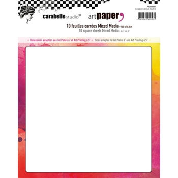 Carabelle Studio 10 SQUARE SHEETS MIXED MEDIA Paper paca60001