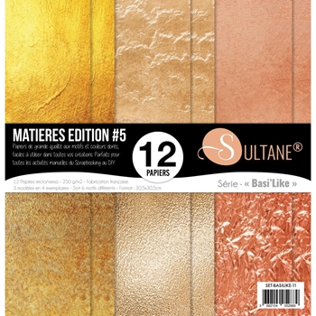 Carabelle Studio MATERIAL EDITION 5 GOLD 12x12 Paper setbasilike11