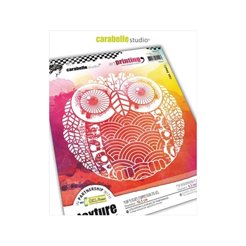 Carabelle Studio OWL Art Printing Texture Plate Round apro60019