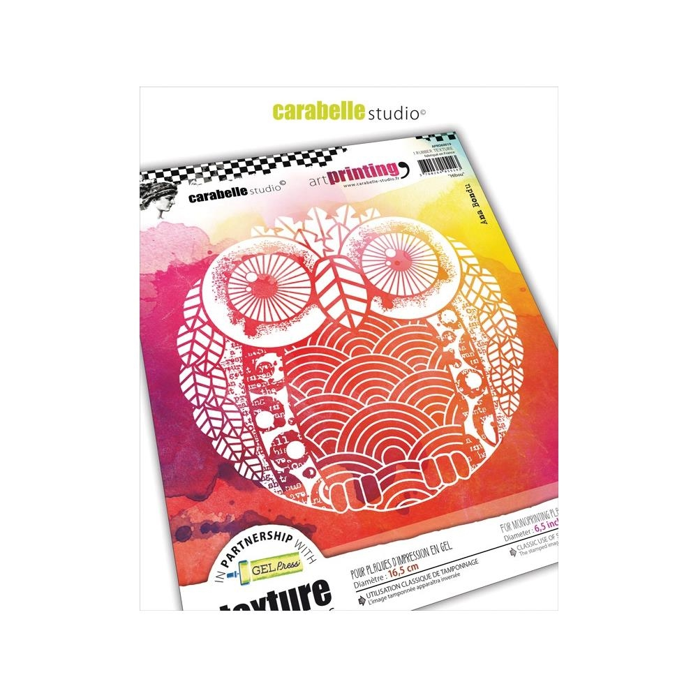 Carabelle Studio OWL Art Printing Texture Plate Round apro60019 zoom image
