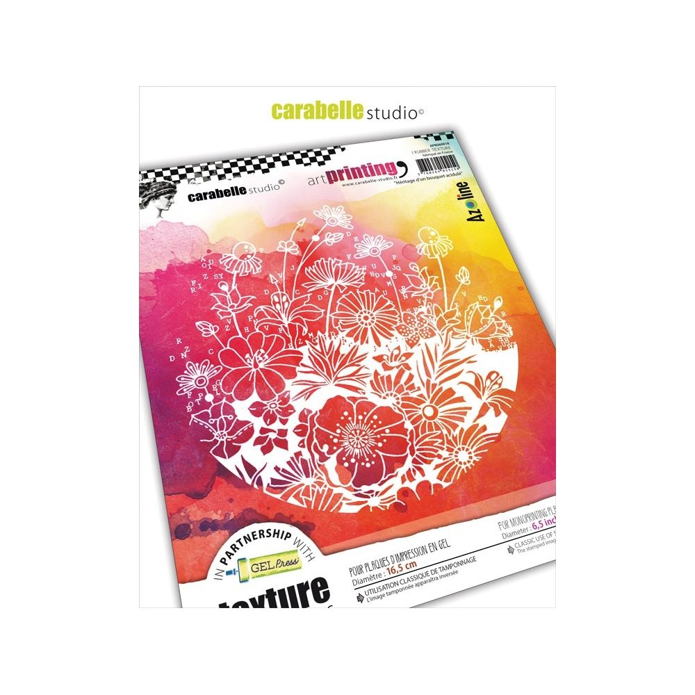Carabelle Studio HERITAGE OF TANGY FLOWERS Art Printing Texture Plate Round apro60018 zoom image