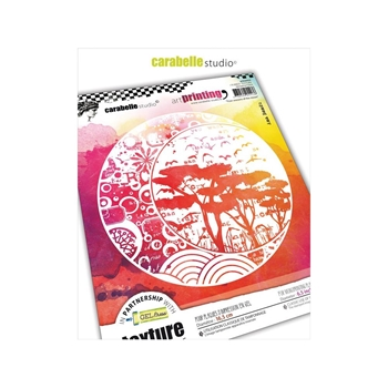 Carabelle Studio FOUR SEASONS OF THE MOON Art Printing Texture Plate Round apro60020