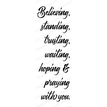 Impression Obsession Cling Stamp BELIEVING D13761*