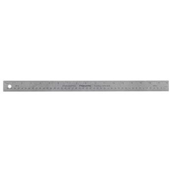 Fiskars METAL 18 INCH RULER Built to DIY 06203*