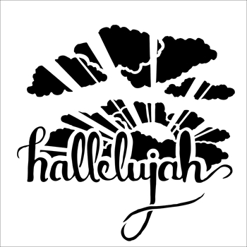 The Crafter's Workshop SMALL HALLELUJAH 6x6 Template tcw844s