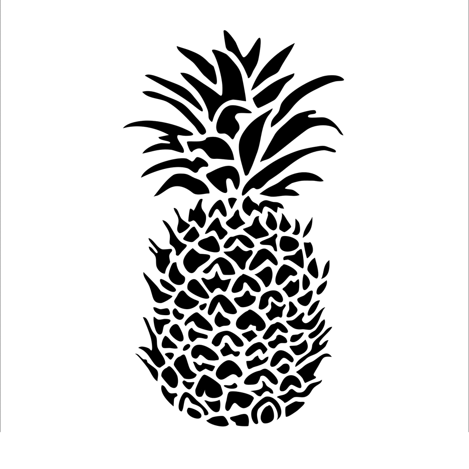 The Crafter's Workshop SMALL PINEAPPLE 6x6 Template tcw848s zoom image
